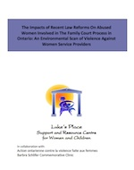 "Cover of report ""The impact of recent law reforms"""