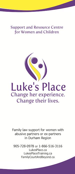 Luke's Place direct service flyer