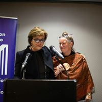Linda Rothstein and Pam Cross and Guthrie Award