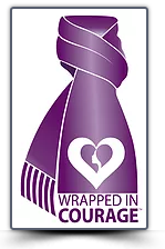 Wrapped in Courage - Woman Abuse Prevention month